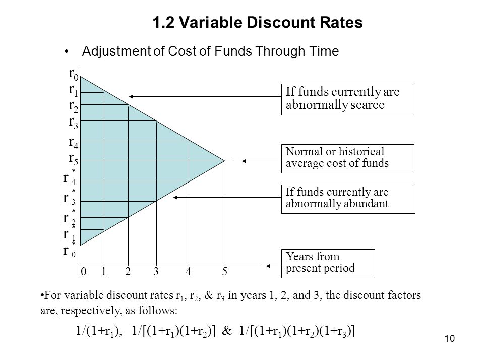 1.2 Variable Discount Rates