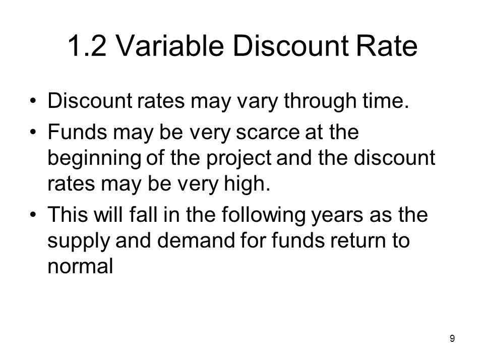 1.2 Variable Discount Rate