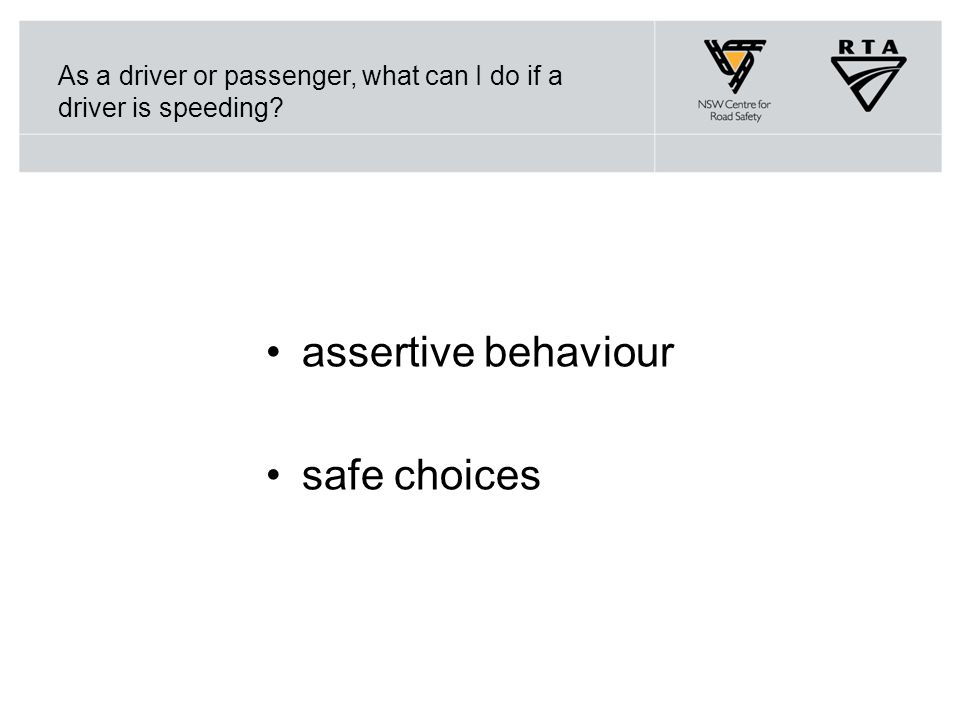 As a driver or passenger, what can I do if a driver is speeding