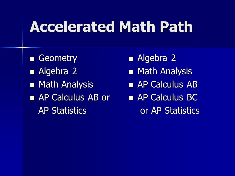 Accelerated Math Path Geometry Algebra 2 Math Analysis