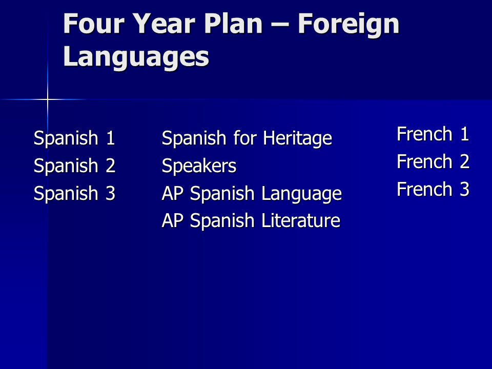 Four Year Plan – Foreign Languages