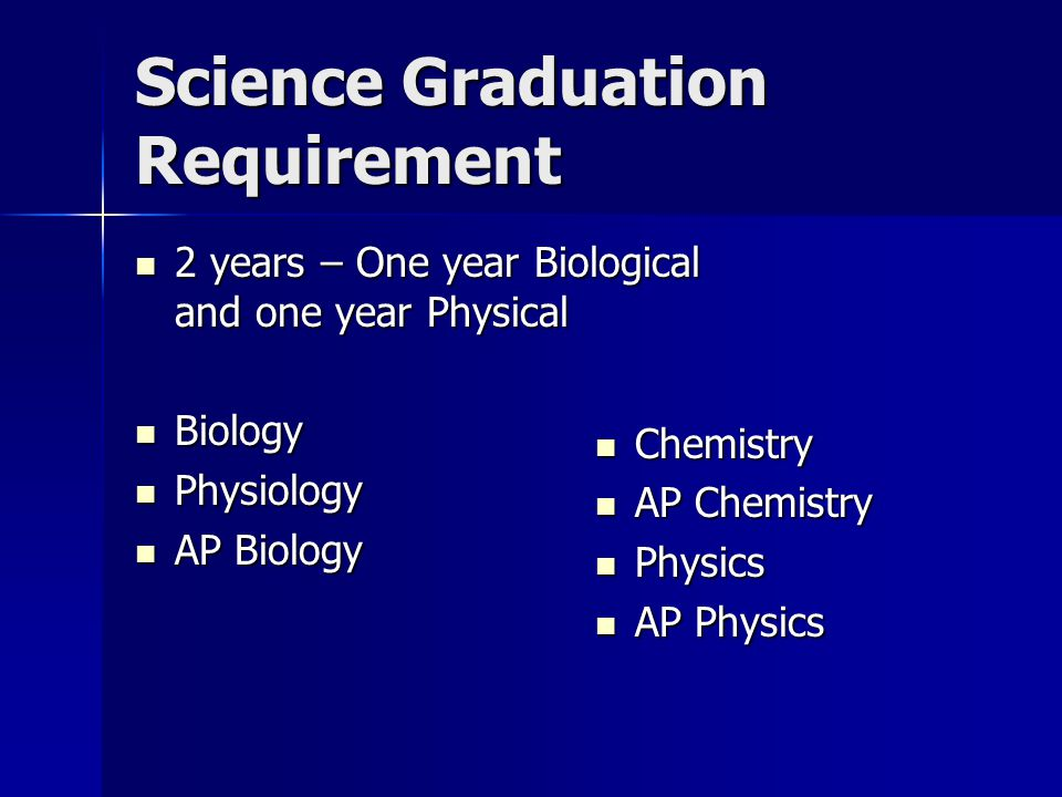 Science Graduation Requirement