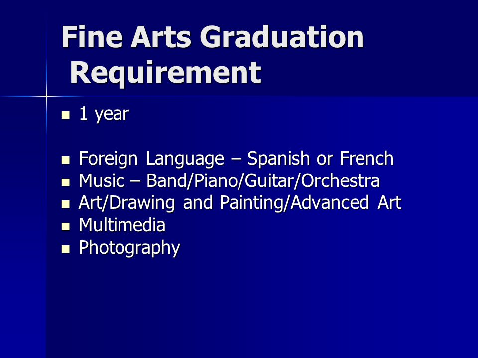 Fine Arts Graduation Requirement