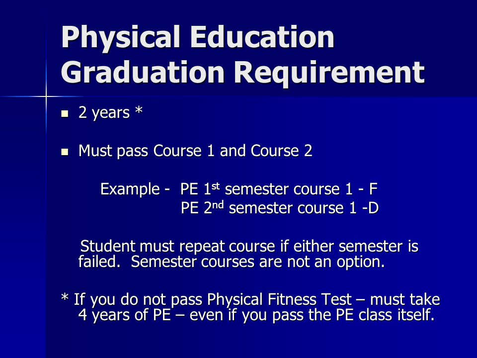 Physical Education Graduation Requirement