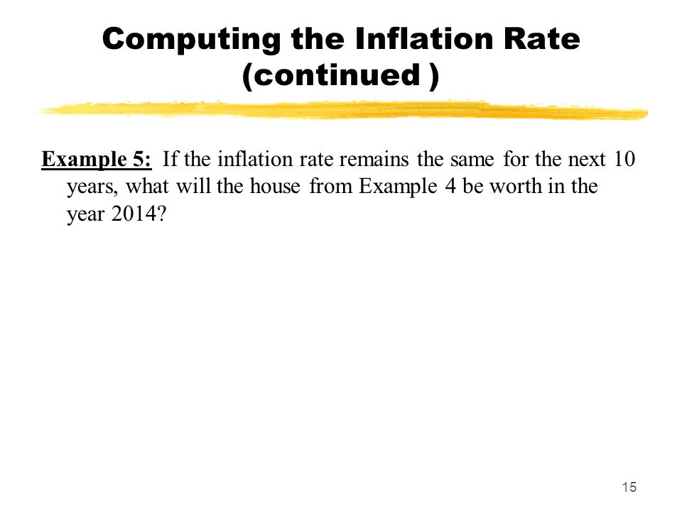 Computing the Inflation Rate (continued )