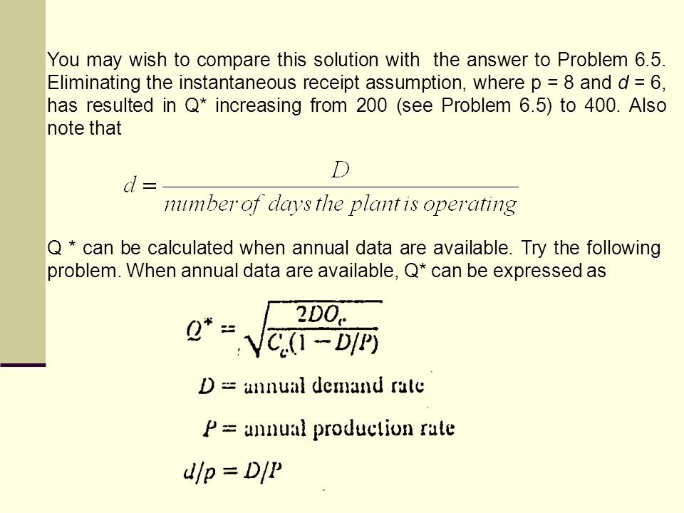 You may wish to compare this solution with the answer to Problem 6. 5