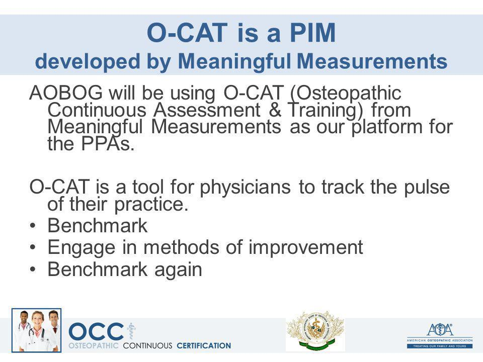 O-CAT is a PIM developed by Meaningful Measurements