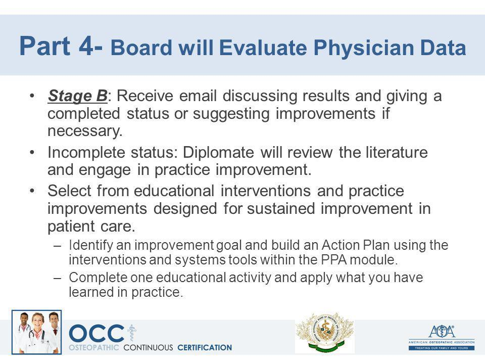 Part 4- Board will Evaluate Physician Data
