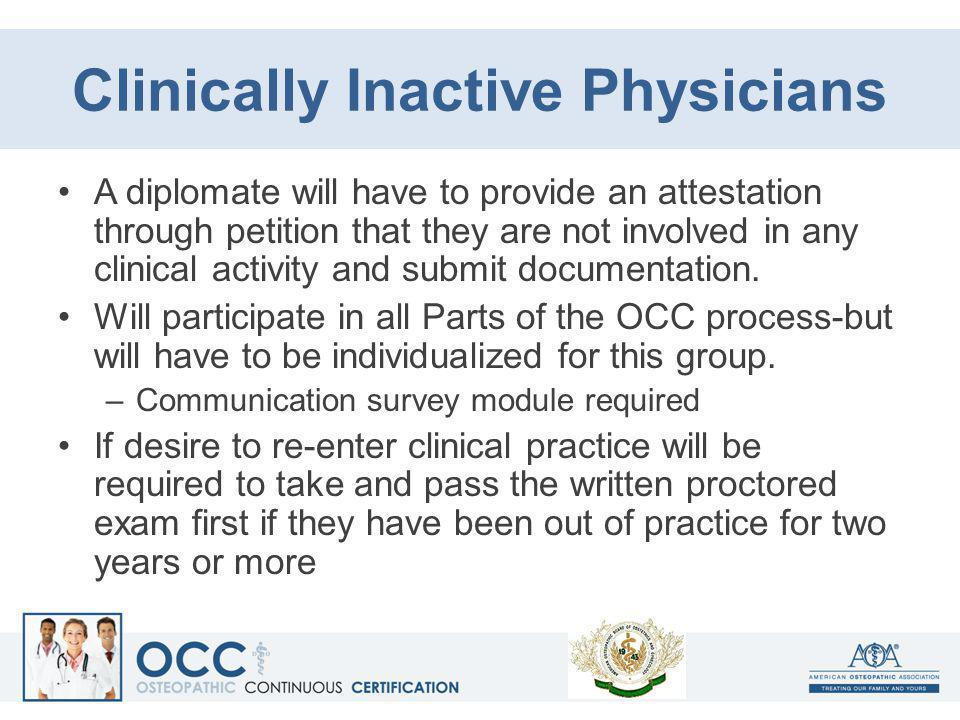 Clinically Inactive Physicians