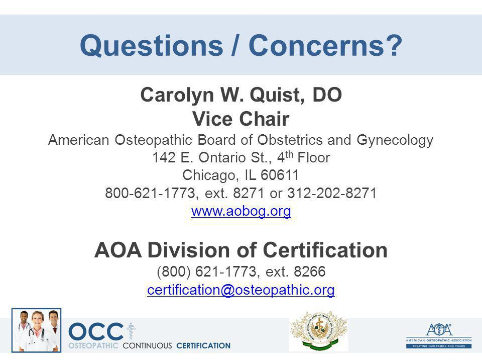 AOA Division of Certification