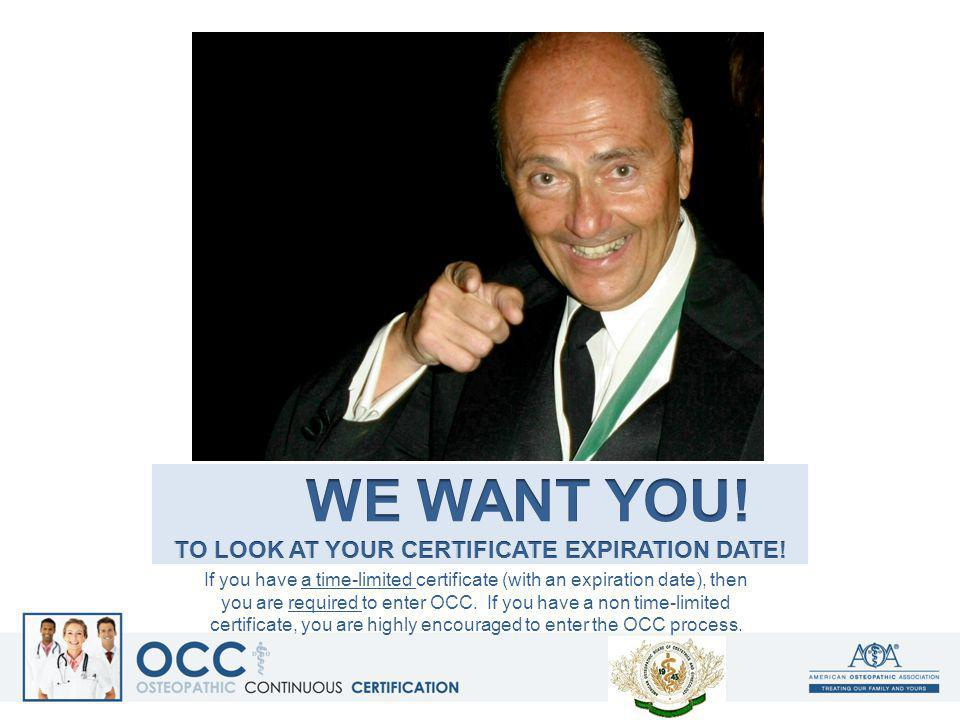 we want you! To look at your certificate expiration date!