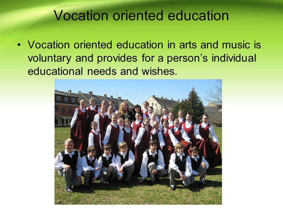 Vocation oriented education