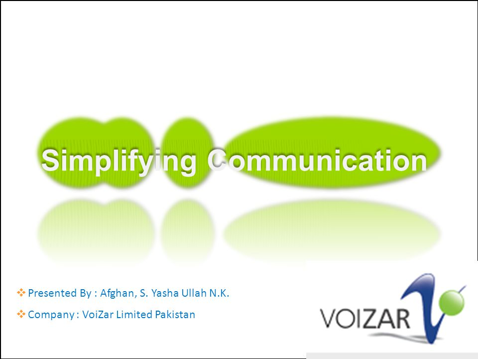 Simplifying Communication