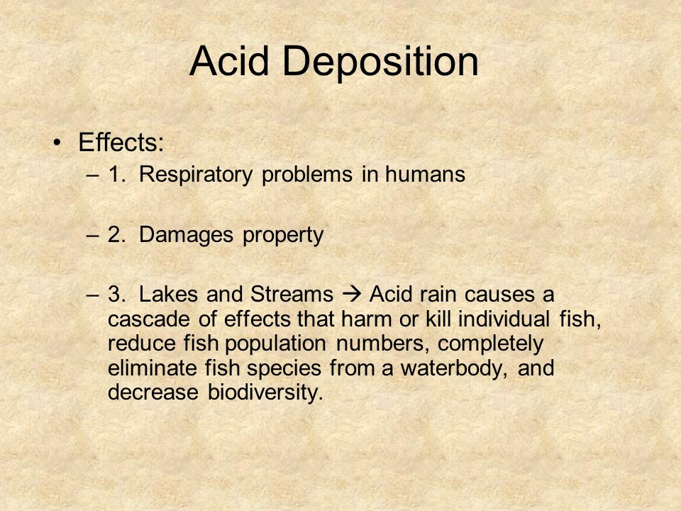 Acid Deposition Effects: 1. Respiratory problems in humans