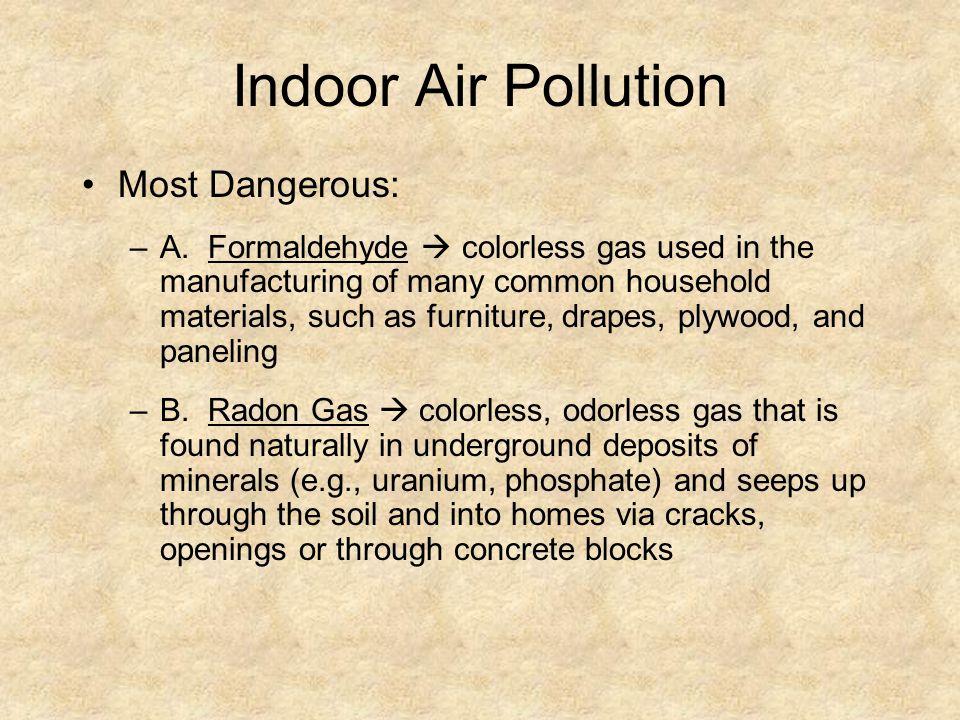Indoor Air Pollution Most Dangerous: