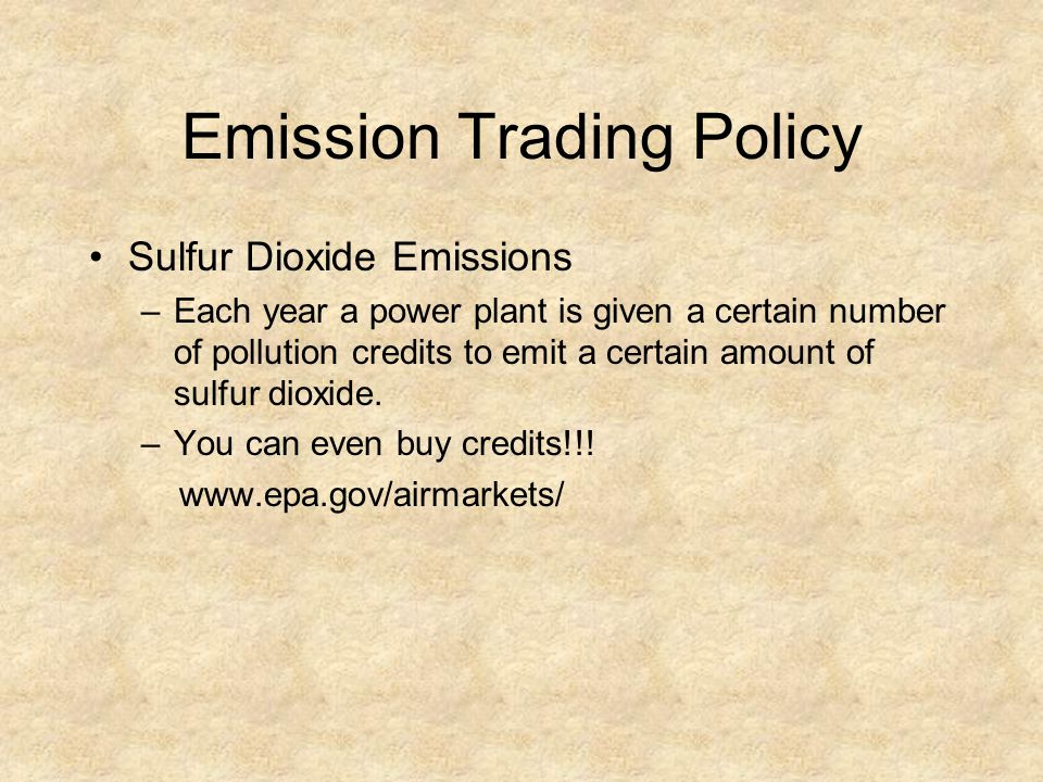 Emission Trading Policy
