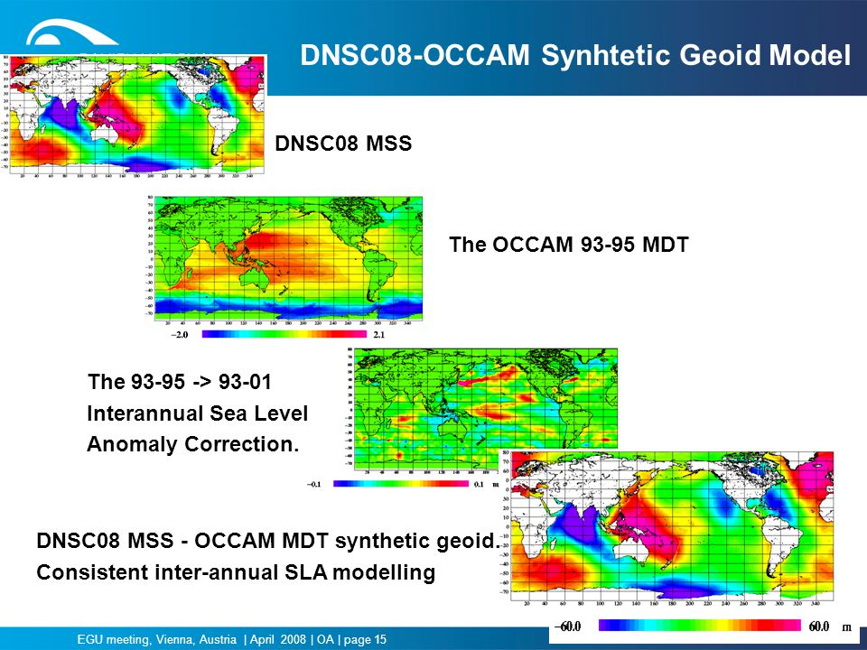 DNSC08-OCCAM Synhtetic Geoid Model