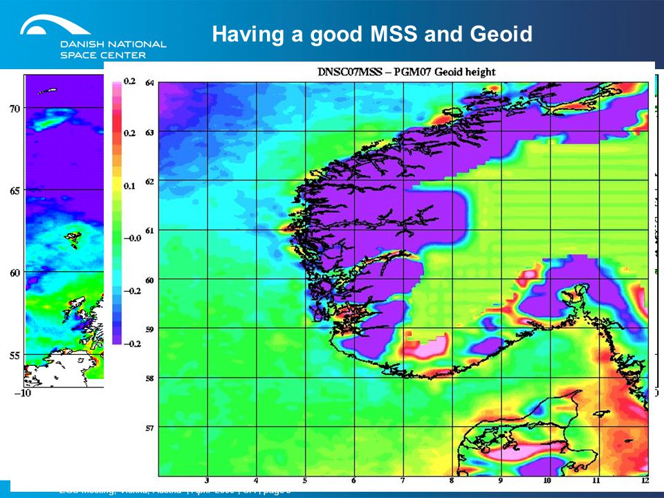 Having a good MSS and Geoid