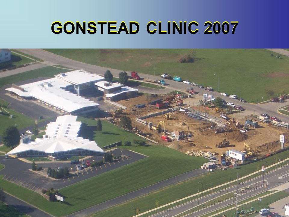 GONSTEAD CLINIC 2007 GONSTEAD CLINIC 2007