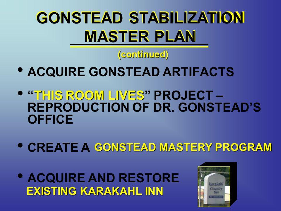 GONSTEAD STABILIZATION MASTER PLAN