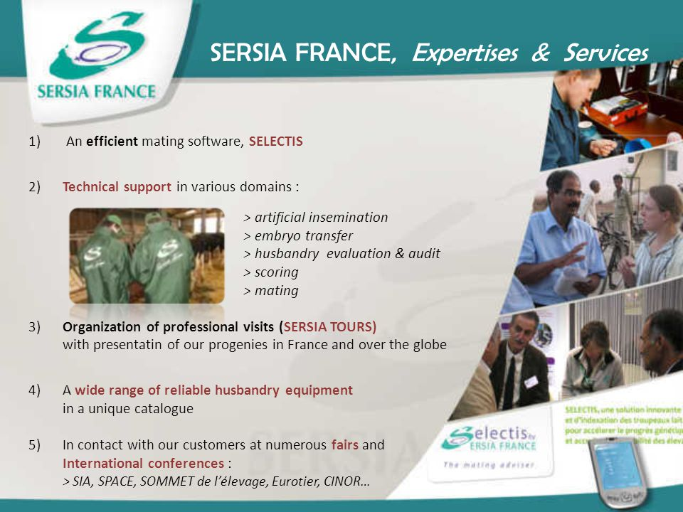 SERSIA FRANCE, Expertises & Services