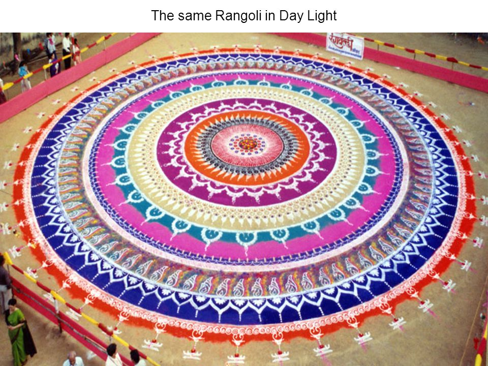 The same Rangoli in Day Light