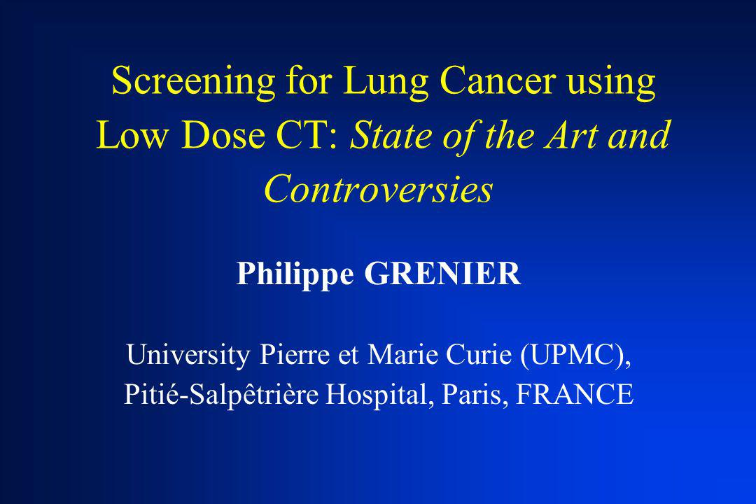 Screening for Lung Cancer using Low Dose CT: State of the Art and Controversies