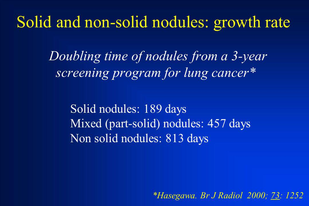Solid and non-solid nodules: growth rate