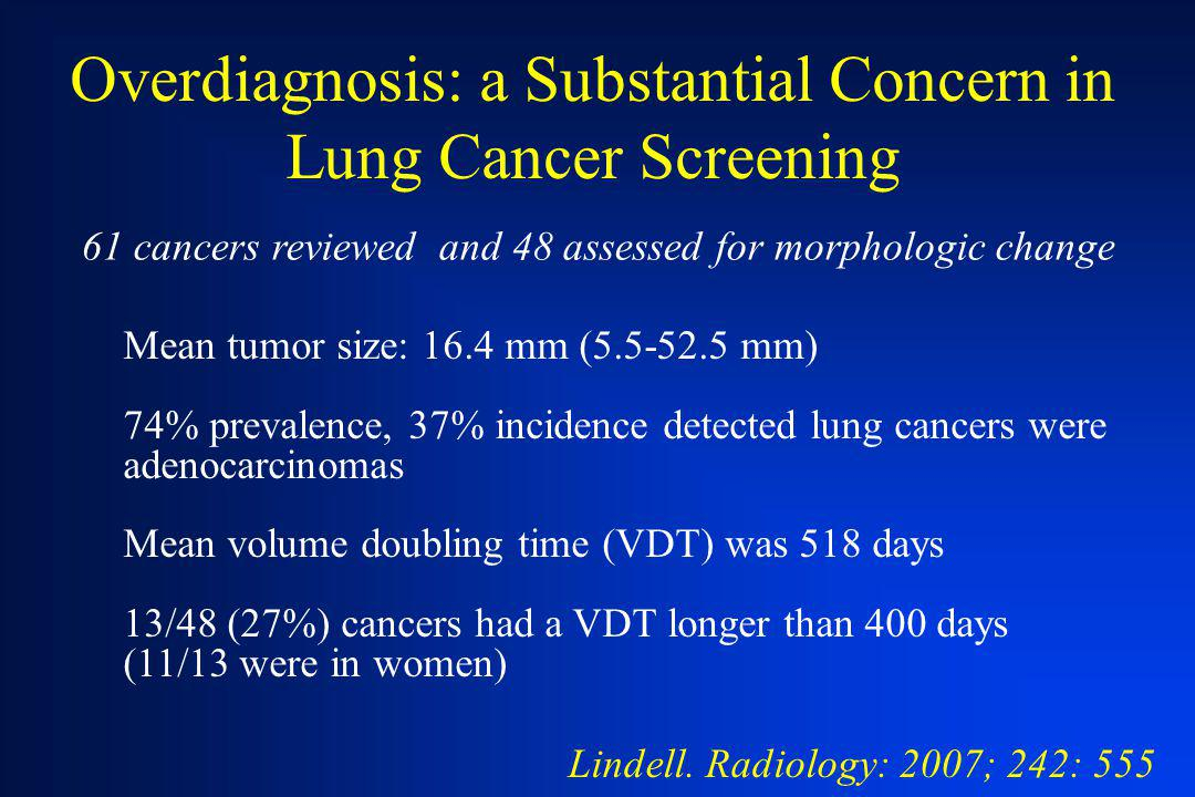 Overdiagnosis: a Substantial Concern in Lung Cancer Screening