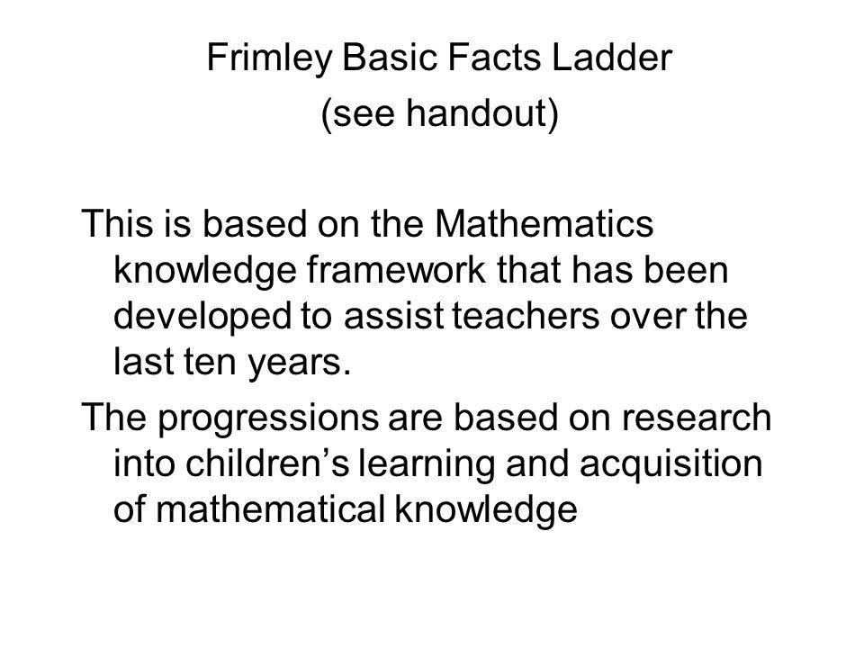 Frimley Basic Facts Ladder