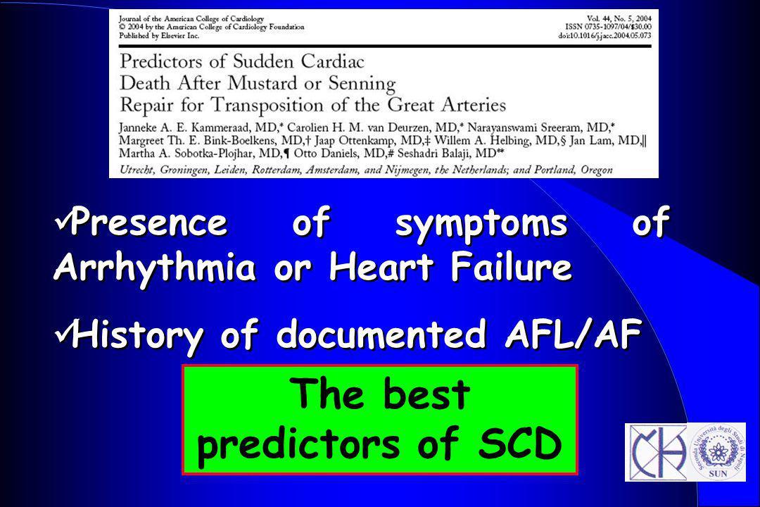 The best predictors of SCD