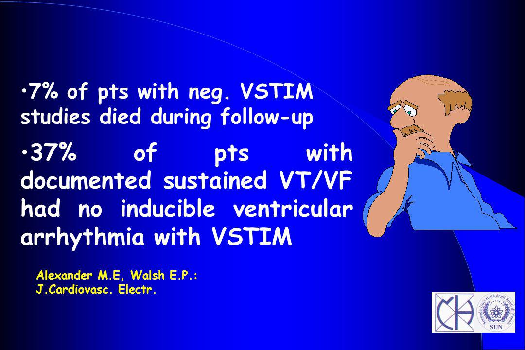7% of pts with neg. VSTIM studies died during follow-up
