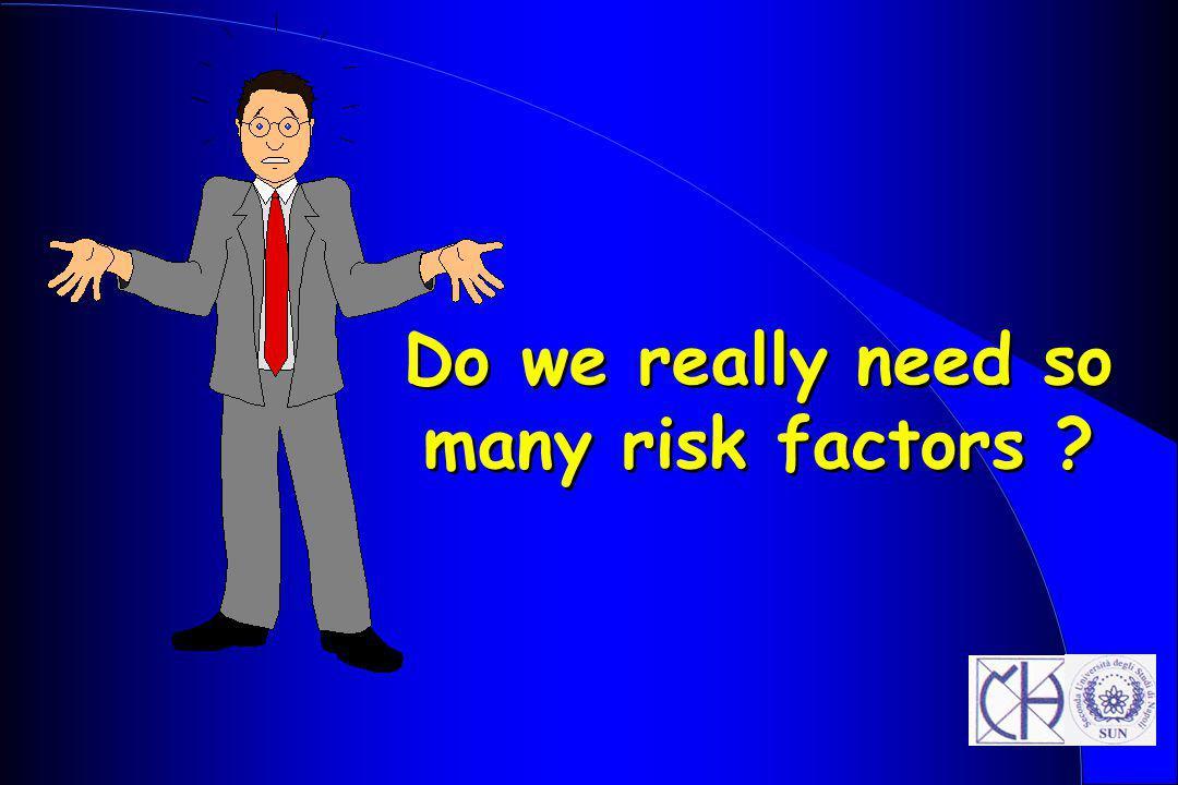 Do we really need so many risk factors