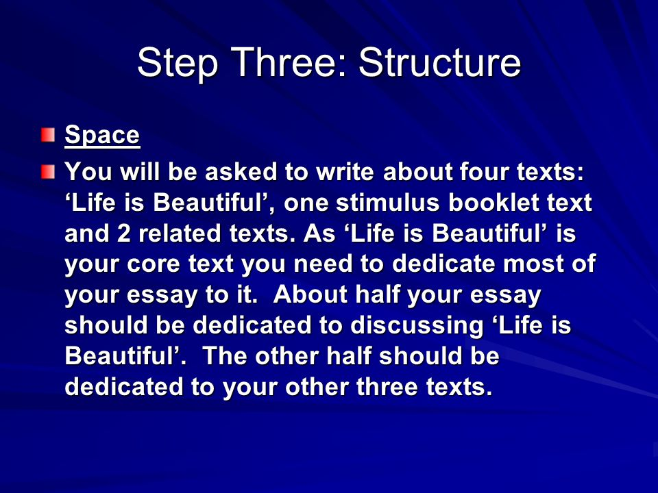 Step Three: Structure Space