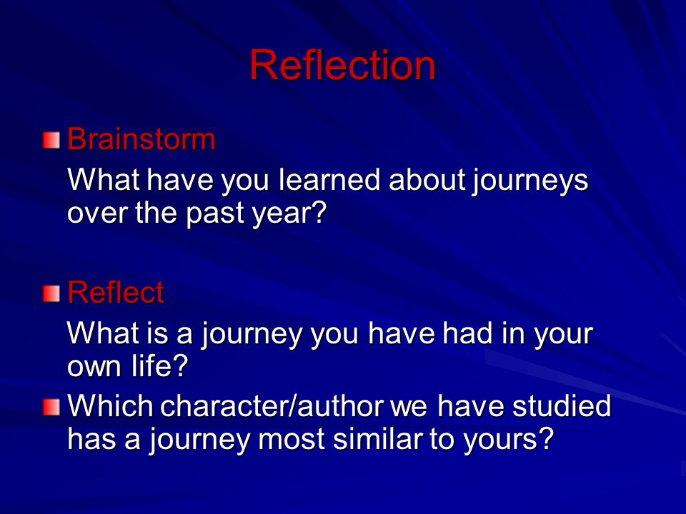 Reflection Brainstorm