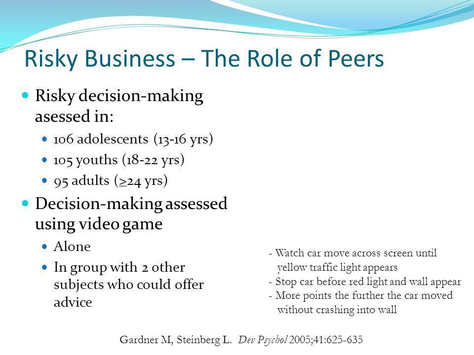 Risky Business – The Role of Peers