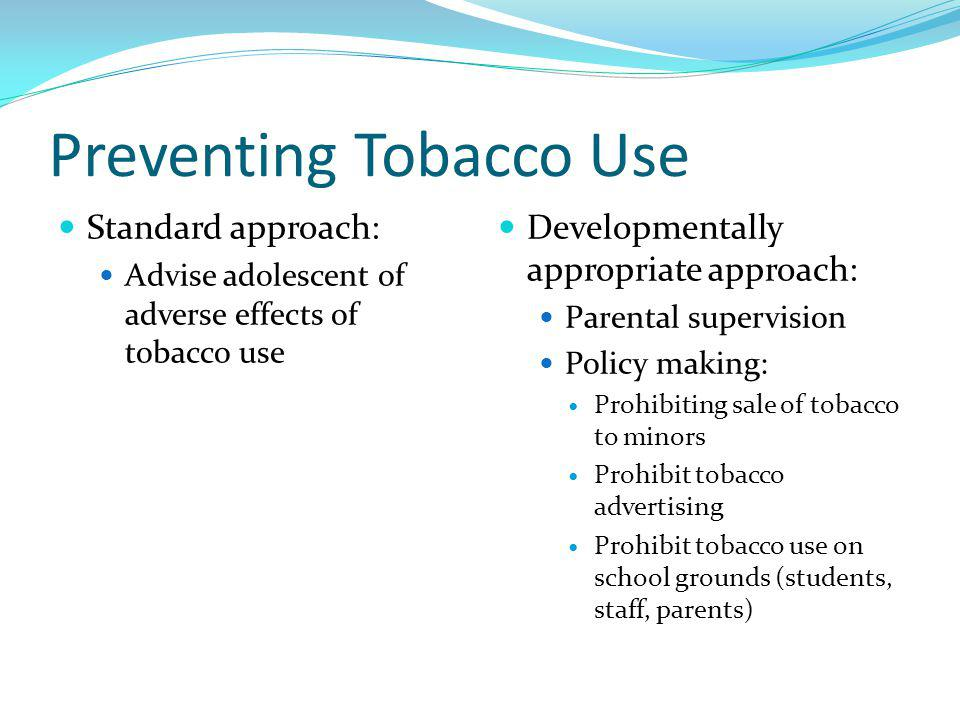 Preventing Tobacco Use