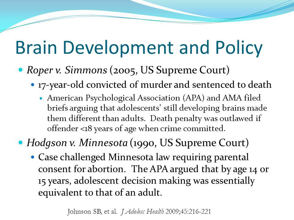 Brain Development and Policy