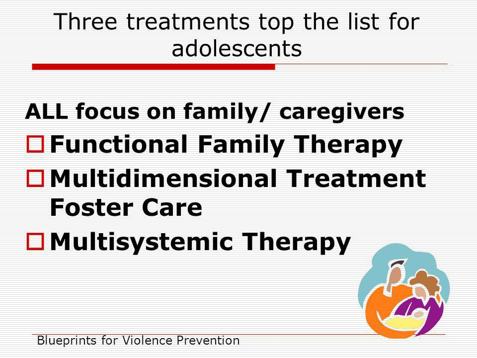 Three treatments top the list for adolescents