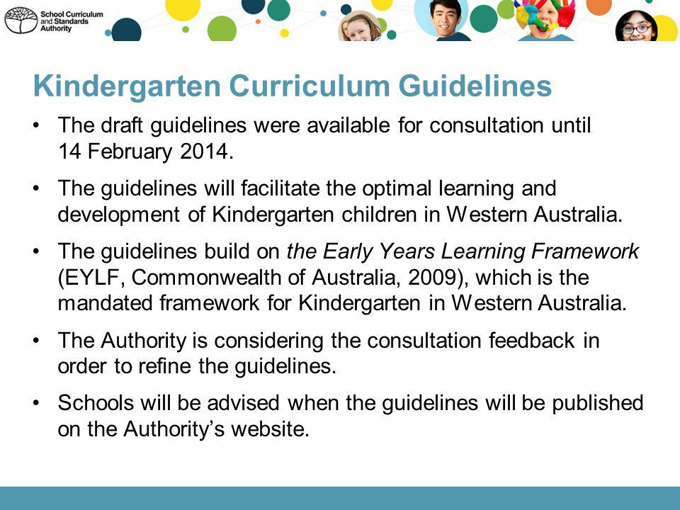 Kindergarten Curriculum Guidelines