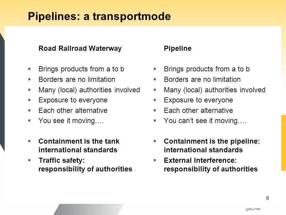 Pipelines: a transportmode
