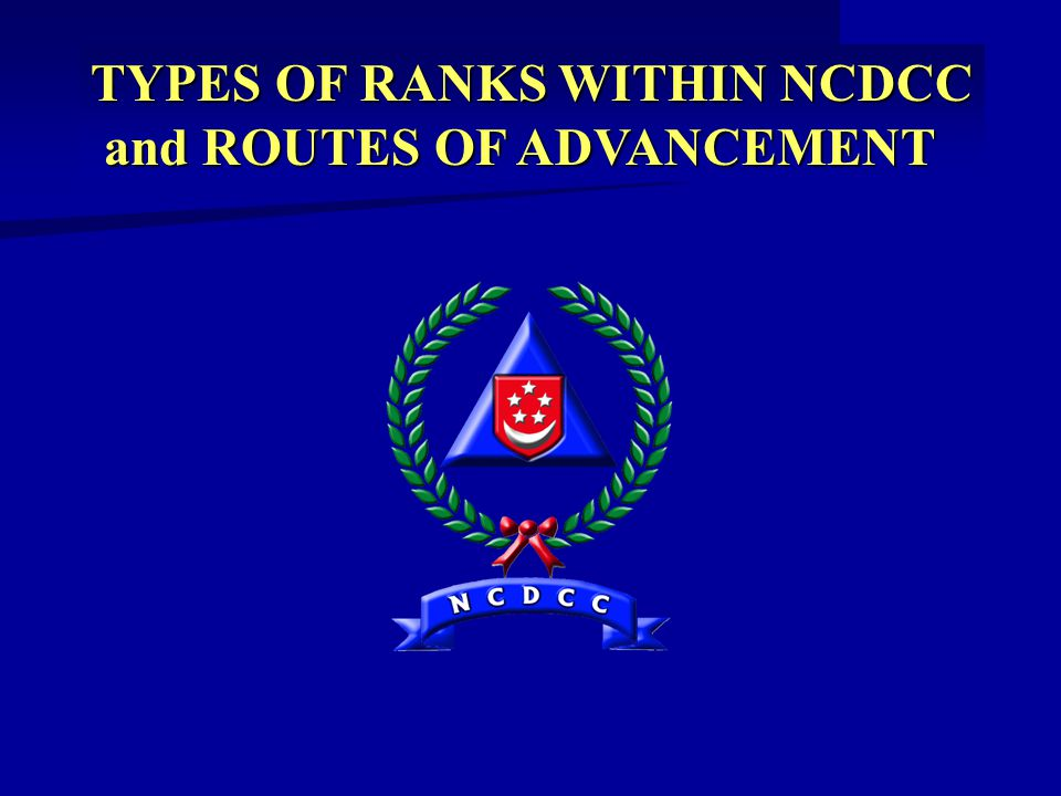 TYPES OF RANKS WITHIN NCDCC