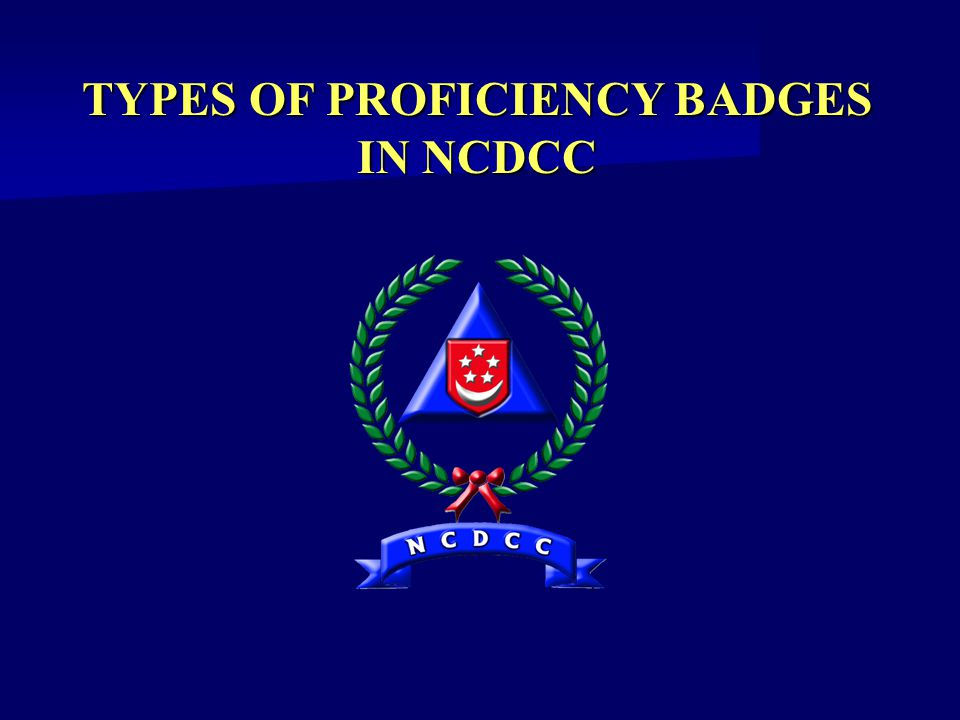 TYPES OF PROFICIENCY BADGES IN NCDCC