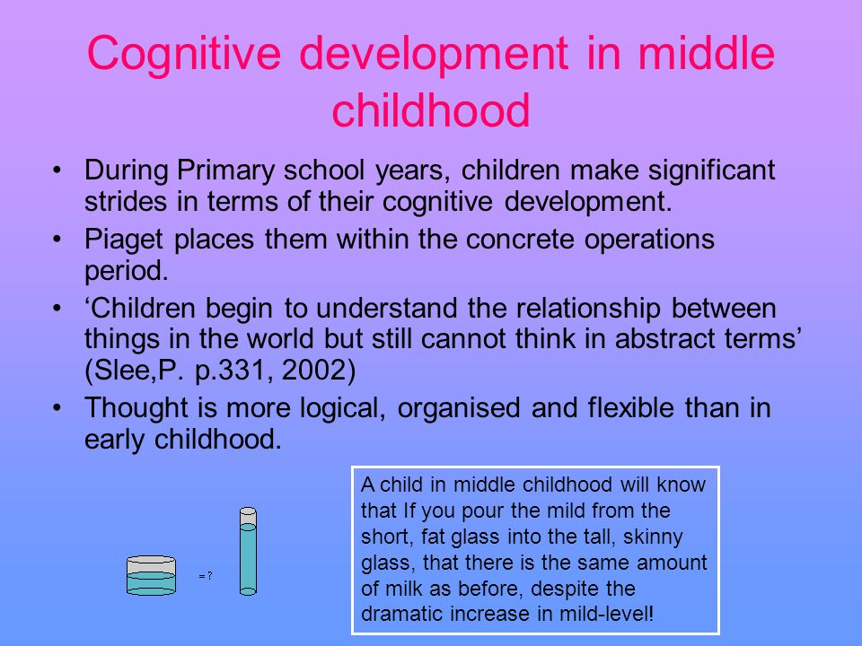 cognitive development of children and a