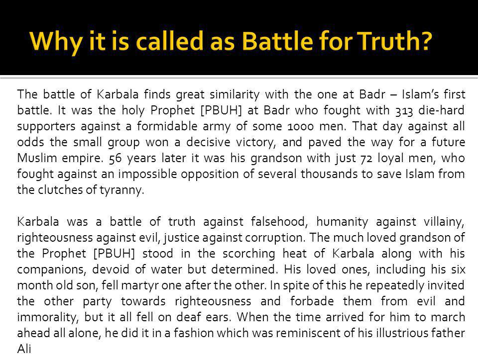 Why it is called as Battle for Truth