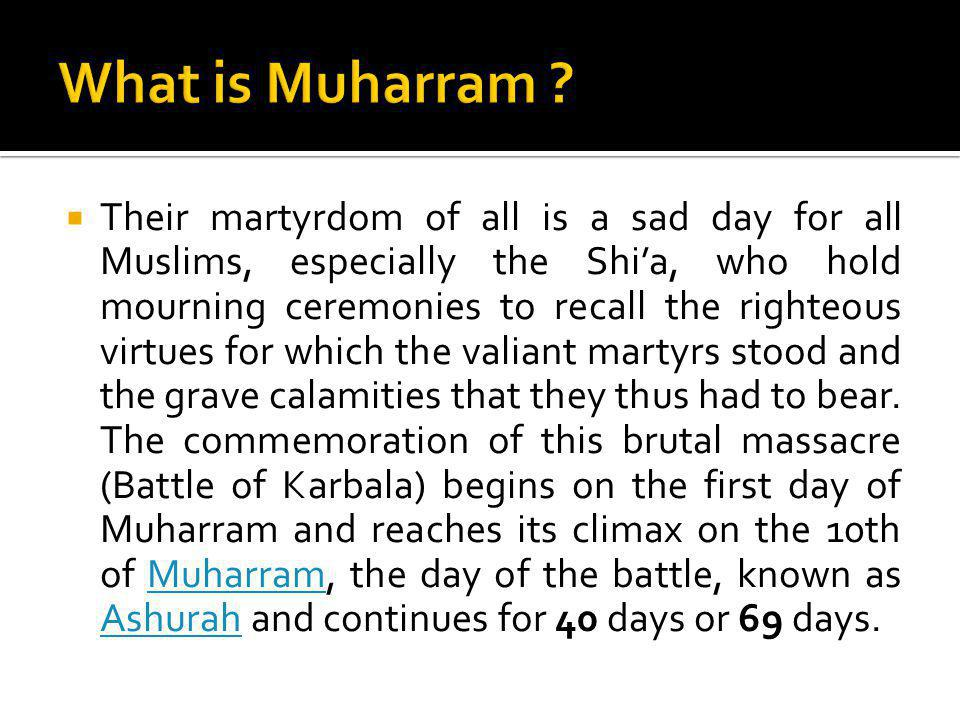 What is Muharram