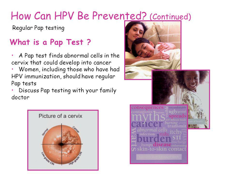 How Can HPV Be Prevented (Continued)
