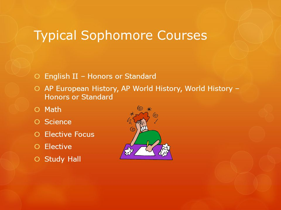 Typical Sophomore Courses