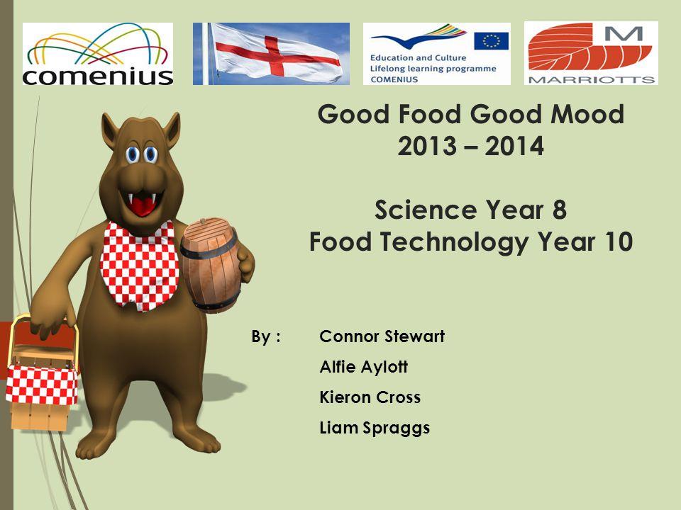 Good Food Good Mood 2013 – 2014 Science Year 8 Food Technology Year 10