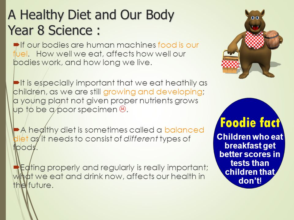 A Healthy Diet and Our Body Year 8 Science :